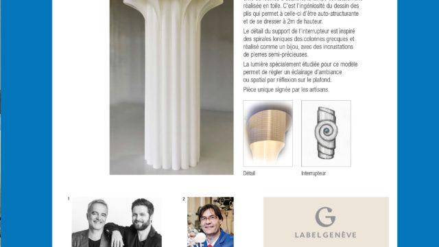 Une lampe Label Genève au Bal du Printemps